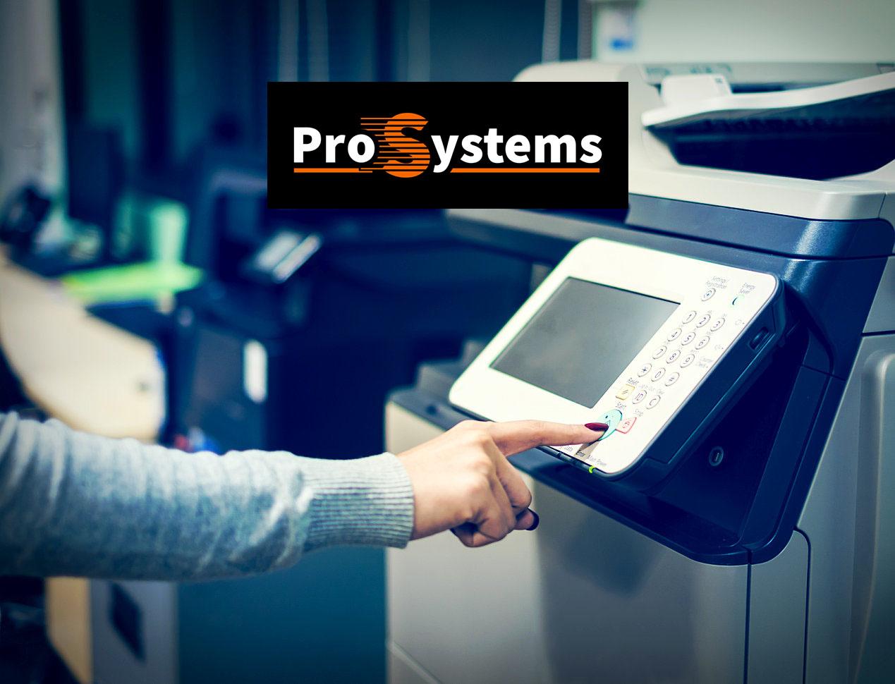 woman printing document