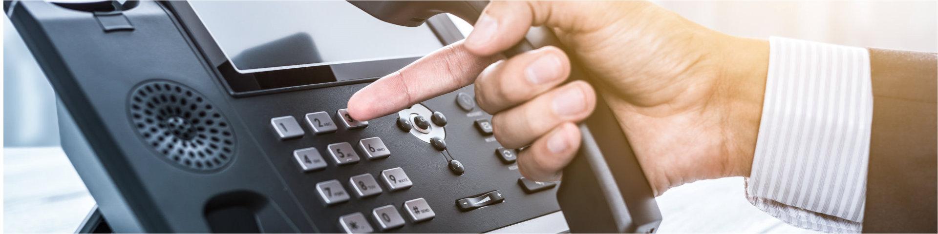 crop image of man dialing